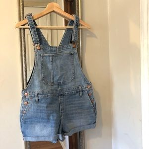 | Old Navy jean shorts bib overalls